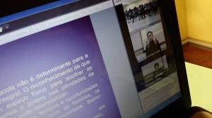 Transmissão da palestra de abertura por webconferência