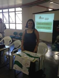 Tatiana Bezerra representou o NInA na acolhida aos calouros do Campus Bagé