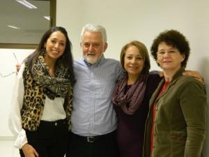Coordenadora do NInA, Francéli Brizolla, professores ministrantes , Rui Sartoretto e Mara Sartoretto, Rogéria Gutier, pedagoga da PROGRAD