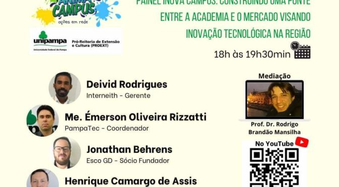 "Painel: ""Inova Campus"" debaterá conexão Academia  Mercado"