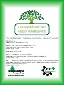 Folder Seminário do Meio Ambiente