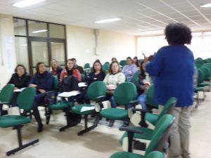 Prof. Everton dialogando com os professores da rede