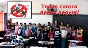 Alunos da turma 4°B, do quarto ano do ensino fundamental da E.E.E.M João Pedro Nunes, unidos após o término palestra, contando com a presença da professora Cláudia