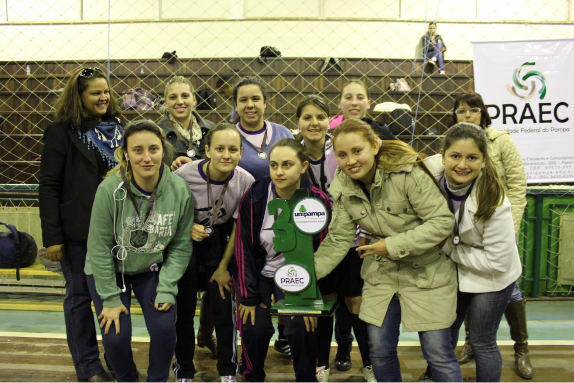 Futsal feminino - 3º lugar - Campus Alegrete