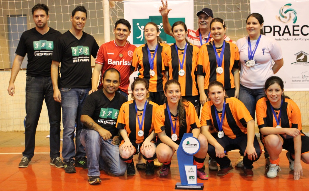Futsal feminino - campeã - Campus Bagé