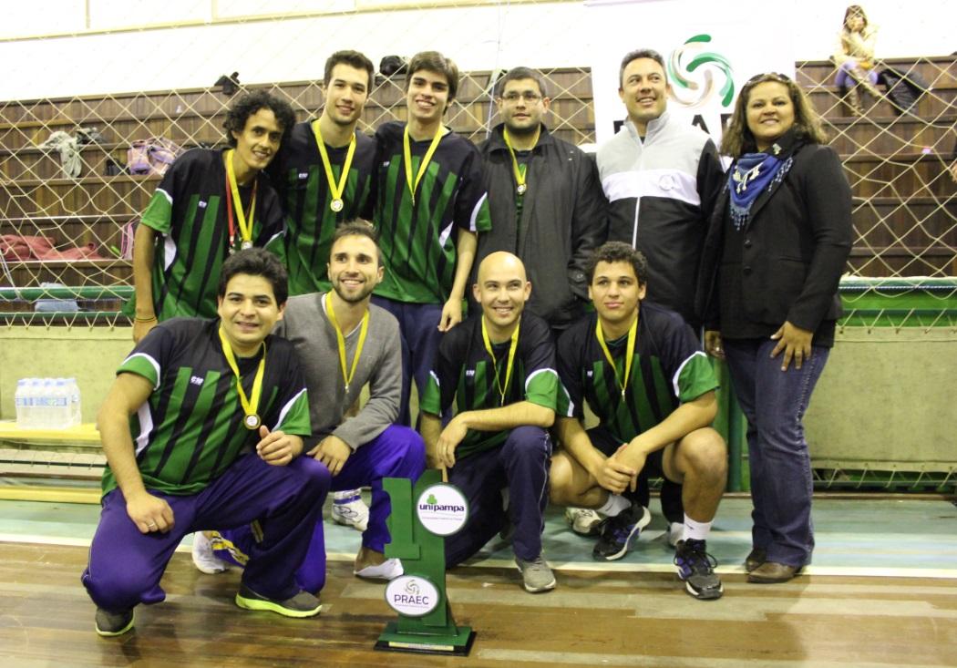 Vôlei masculino - campeão - Campus Uruguaiana