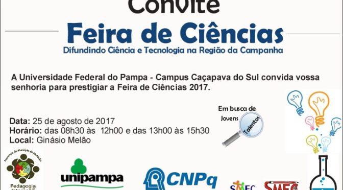 Convite para a Feira de Ciências 2017