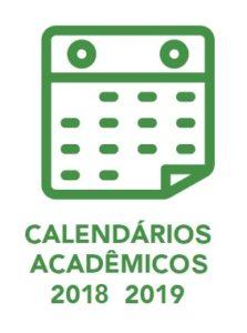 Calendários acadêmicos 2018 e 2019