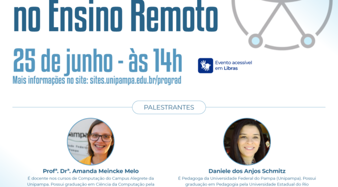 Seminário on-line: Acessibilidade no Ensino Remoto