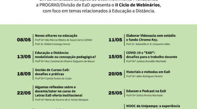 PROGRAD/DEaD em Webnários sobre EaD em tempos de Covid-19