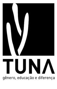 logotipo fundo preto, tuna desenhada na cor branca